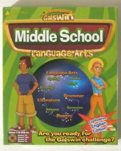 GALSWIN MIDDLE SCHOOL Language Arts 2 CD-ROM Software! New! Integral Media 2001