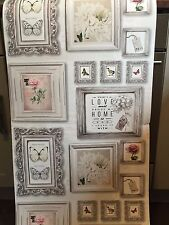 Vintage Floral Wallpaper Cream Gallery French Chic Picture Frame Rose Butterfly