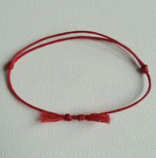 Kabbalah Lucky Red Cord Bracelet 1mm  waxed cotton.