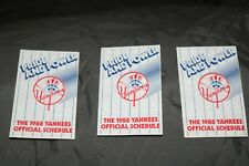 1988 NY New York Yankees Baseball Pocket Schedule Budweiser Version Lot of 3