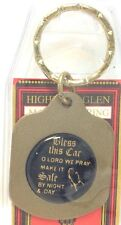 Brand New Pressed Metal Religious Keychain PRAYER Porte-Cle Neuf PRIERE USA ~NWT