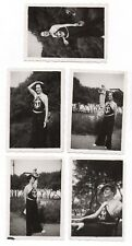 PHOTO Femme Mode Vers 1940 Fashion Costume Marin Encre Lot 6 photos Casquette