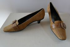 Geox Shoes size 38 brown suede leather pumps excellent like new