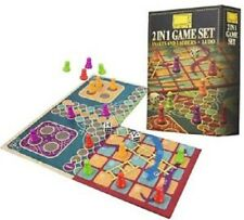 2 in 1 Traditional Board Game Set - Snakes Ladders and Ludo Double-sided Foldi