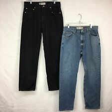 Lot Of 2 Used Levis 550 Relaxed Fit Light & Black Wash Denim Jeans Men Sz 36x34