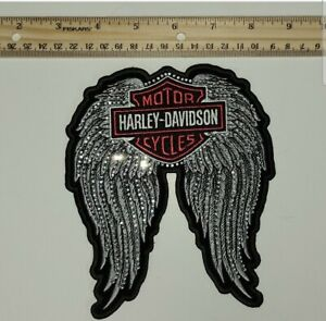 Harley Davidson Back Patch Large Reflective Embroidered angel wings iron on