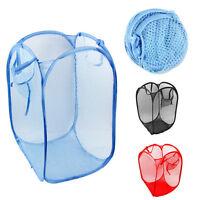 3X Large Foldable Washing Clothes Laundry Basket Hamper Mesh Storage B-313