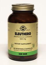Solgar Eleuthero 520mg 100 Vegetable Capsules