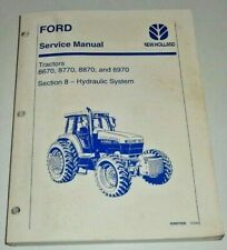 """Ford New Holland 8670 8770 8870 8970 Tractor """"HYDRAULIC SYSTEM"""" Service Manual"""
