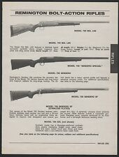 1998 REMINGTON Model 700 BDL LSS, Sendero Special and SF Bolt-Action Rifle AD