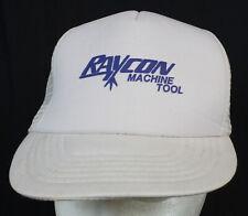 Vtg Raycon Machine Tool Snapback Mesh Hat Trucker Farmer Cap Sam-Sen M/L Unworn