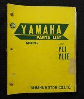 """1968 1969 YAMAHA """"MODEL YL1 YL1E"""" MOTORCYCLE PARTS CATALOG MANUAL NICE"""