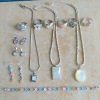 ~Mother of Pearl~ 925 Sterling Silver Mixed Jewelry Lot