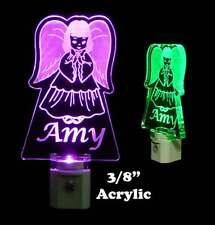 Personalizd Angel LED Night Light- Nursery light, Handmade -Gift, Praying