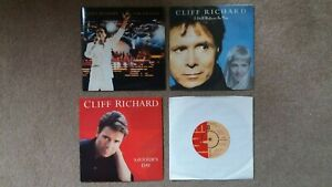 """Cliff Richard - 4 x 7"""" Singles -From A Distance, Saviour's Day + 2 others"""