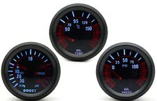 52mm AGG-1 Smoked Turbo Boost 30 PSI + Oil Temp + Oil Pressure 3 Gauge Kit