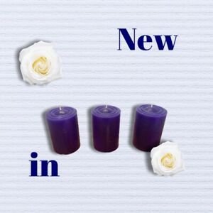03 x Blueberry Scented Candles 100% Natural