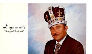 Lafayette Louisiana Lagneaux's King of Seafood Postcard LA 1