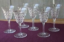 6 verres à eau en cristal de Baccarat modèle Pontarlier