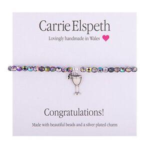 Carrie Elspeth BB158 Sentiment Bracelet - Congratulations - BNWT