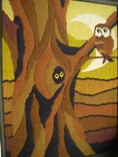 Finished Bucilla Night Visitor OWL Long Stitch Needlepoint Picture-12x15.75 Inch