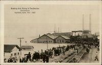 Hartford CT Crowd & Flood 1927 Real Photo Card/Postcard