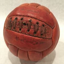 Antique 18 Panel Leather Soccer Ball Mark Cross Co England Vintage Hand Sewn