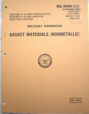 Military Specifications ASBESTOS Composition Gasket Materials Army Navy Marines