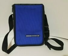 Official Nintendo Gameboy Advance GBA SP Black /Blue Travel Carrying Case, Used