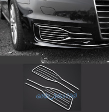 10PCS Front Fog Light Lamp Decorative Frame Cover Trim For Audi A6 C7 2016-2018