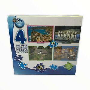 NEW - PUZZLE WORLD 4X 500 PC JIGSAW PUZZLES - FACTORY SEALED 48x35cm