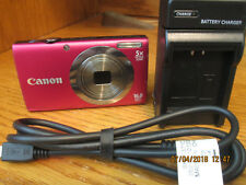 Canon PowerShot A2300 16.0 MP Digital Camera Red Accessories SD Card
