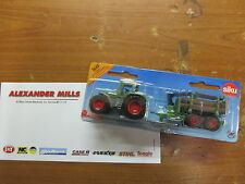 Siku 1645 Model Toy Fendt Tractor & Forestry Trailer Replica Diecast Model Toy