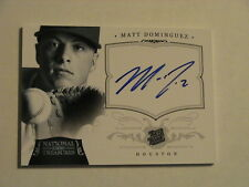 2012 National Treasures Matt Dominguez Houston Astros Rated Rookie Auto 1/1