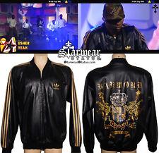 Usher Raymond 'Yeah Live' Worn & Owned ADIDAS Gold Stripe Leather Y-3 Jacket L