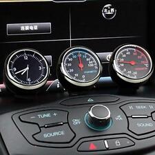 3*Car Dashboard Gauge Thermometer Humidity Quartz Clock Temperature Hygrometer