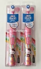 2x Oral-B Kids Battery Power HELLO KITTY Soft Toothbrush NEW