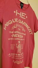 Authentic HE by Mango MNG Men T-shirt Pink Medium FREE SHIPPING