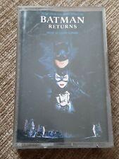BATMAN RETURNS SOUNDTRACK CASSETTE TAPE - DANNY ELFMAN