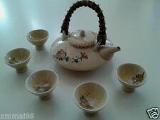 Vintage Japanese Satsuma Pottery Sake set Post-1940, 薩摩 薩陶山 No Box