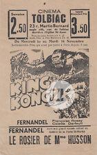 KING KONG Tract Fay WRAY Fernandel Husson GORILLE Cinéma Paris Flyer 1936