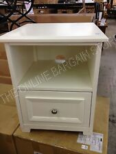 Pottery Barn Kids Fillmore Nightstand bedside end coffee table antique white