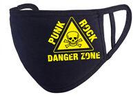 PUNK ROCK DANGERZONE  Behelfs-Mund-Nasen-Maske, schwarz