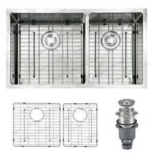 "Top Mount Kitchen Sinks 14 Gauge 304 Stainless Steel Dual Basin 33""x22""x9'' WLF"