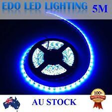 12V Blue 5M 5050 SMD 300 Leds Flexible Led Strip Lights Waterproof Car Boat