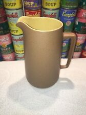 """Nice vtg METLOX Poppytrail California TEMPO Speckled Brown Yellow 9.5"""" Pitcher"""