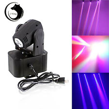 10W RGBW DMX Mini LED Spot Moving Head Stage PAR Light 14CH Show DJ Club US Plug