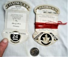 2 CHADWICKS MENDING ALL WOOL (thread) cards Made in England 5 cents