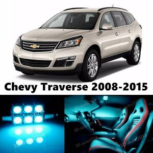 18pcs LED ICE Blue Light Interior Package Kit for Chevy Traverse 2008-2015