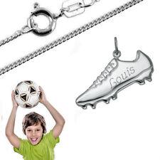 Sport Anhänger Fußballschuh mit Gravur- 925er Sterling Silber- Neu